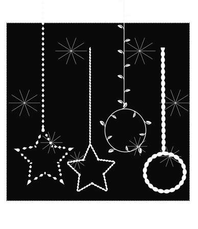 hung: Stars with black background Illustration