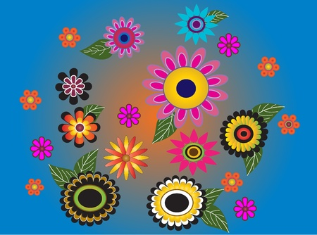 Flowers multicolored Stock Vector - 10731766