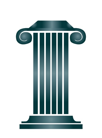 roman pillar: Column building Illustration