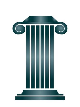 zuilen: Column gebouw Stock Illustratie