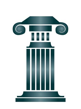 doric: Column building Illustration