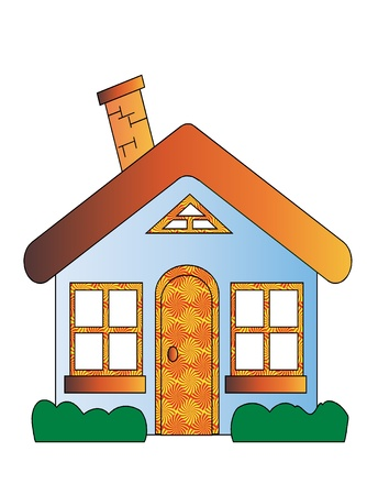 warm house: House Cartoon Illustration
