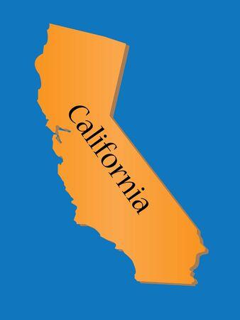 California State-Karte Vektorgrafik