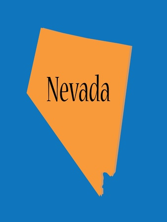 Nevada  State Map Stock Vector - 10736466
