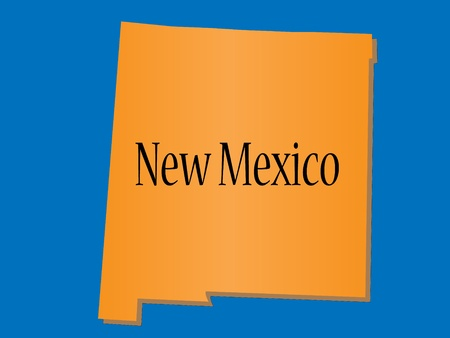 silhouete: New Mexico State Map