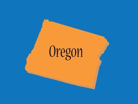 oregon coast: Oregon State Map Illustration