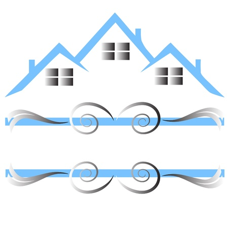 Houses for sale real estate Vector
