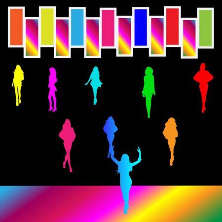 Dancing at night club Stock Vector - 10795591