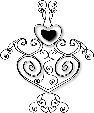 Heart design stock