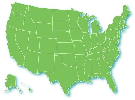 tennesse: Mapa Verde de EE.UU.