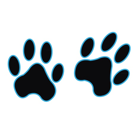 Black paw printer  Vector