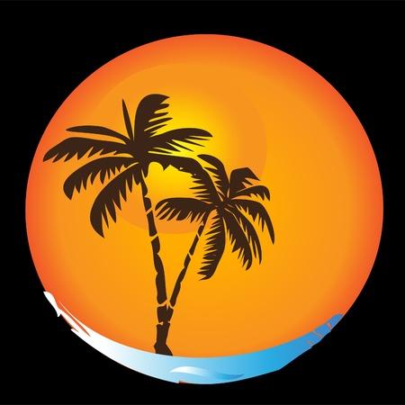 Tropische zon stranden palmen apt-logo