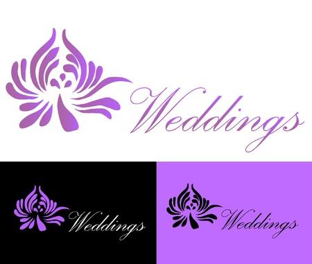 Hochzeiten Karte Logo Standard-Bild - 10893603