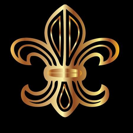 lily: Golden glowing flour de lis symbol