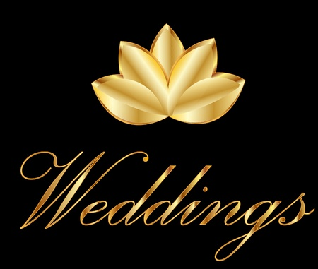 Lotus flower symbol of weddings Vector