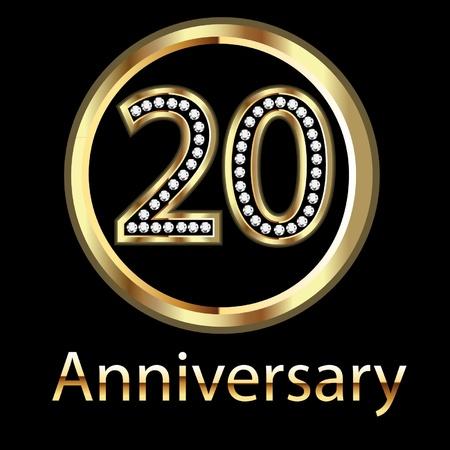 20 주년 생일 축하 일러스트