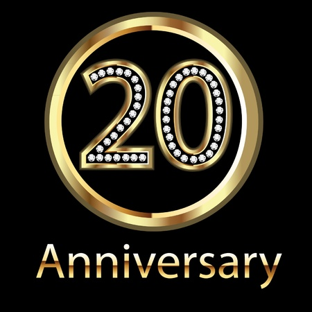 20th anniversary birthday celebration Stock Vector - 10959343