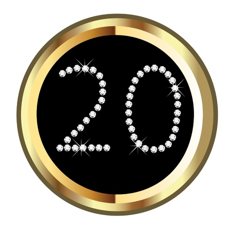 20th anniversary birthday celebration  Vector