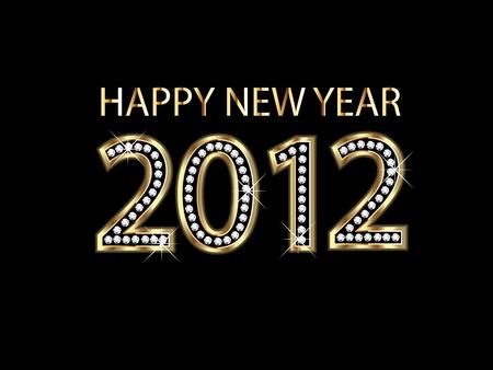 Happy new year 2012  Stock Vector - 10959345