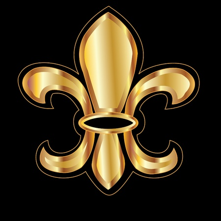 fleur of lis: Golden glowing flour de lis