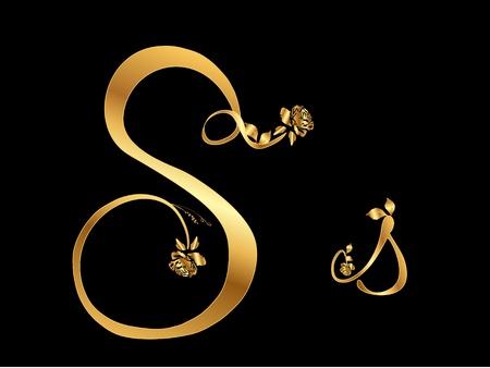 黄金のベクトル文字 S バラ (コレクション)