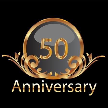 anniversaire mariage: Or le 50e anniversaire