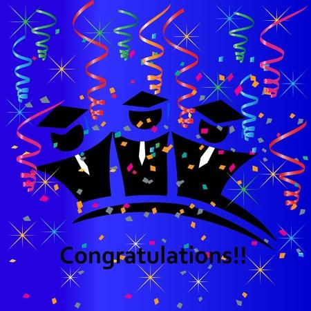 Felicitaciones de la fiesta de graduación