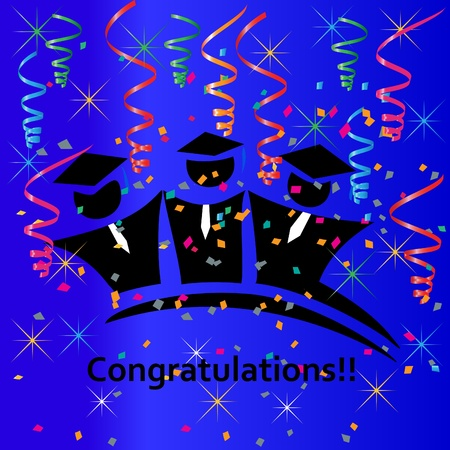 congratulations: Graduation celebration congratulations Illustration