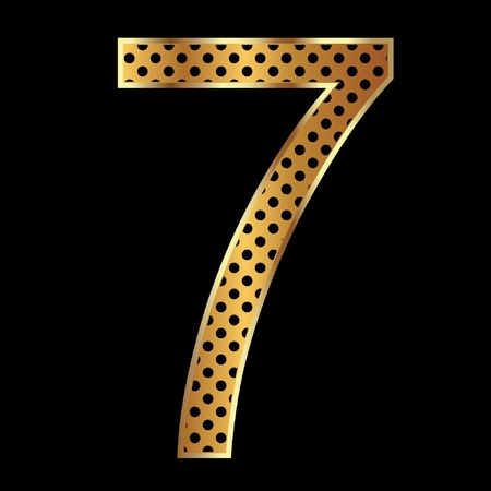 Number seven tiger style collection Vector