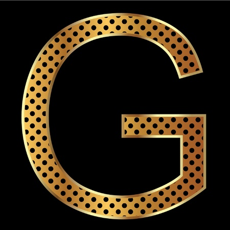 Letter g with tiger style and gold Vector