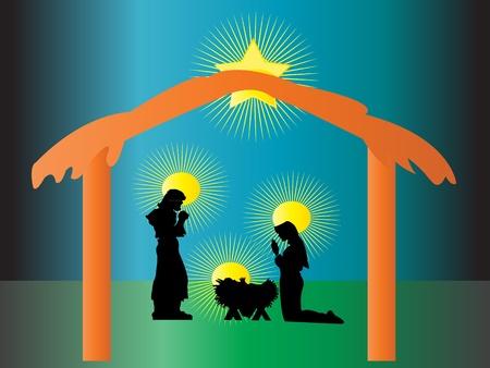 Nativity born of Jesus in Christmas
