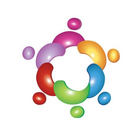 Team flower logo Vector