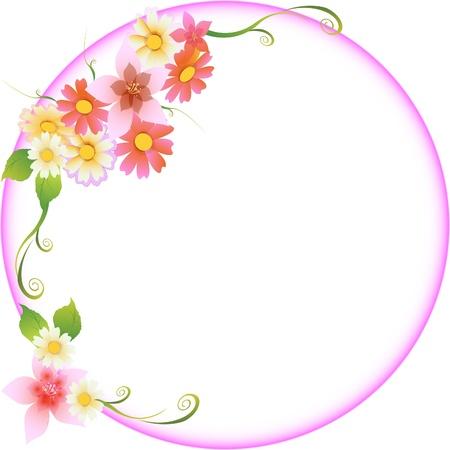 muguet fond blanc: Cadre floral de mariage Illustration