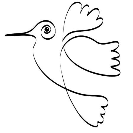 Logo de silhouette Hummingbird Logo