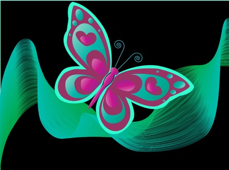 Butterfly in the night Vector