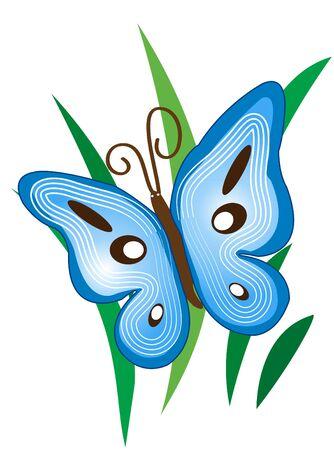 Blue Butterfly Çizim