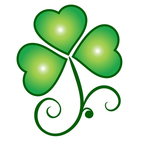 lucky clover: Clover saint patrick Illustration