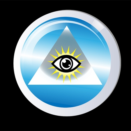 Triangle eye of god protection  Stock Vector - 11295378