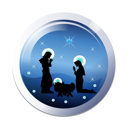 Christmas nativity 25th december scene Illustration