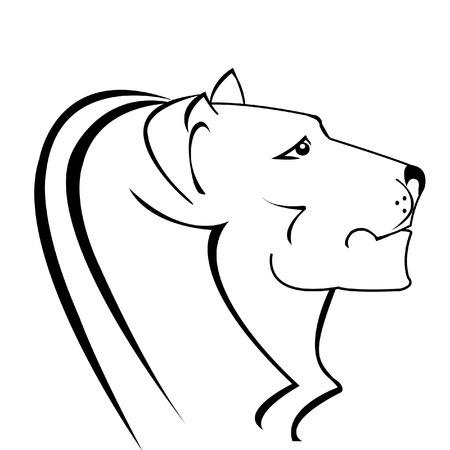 Lion silhouette