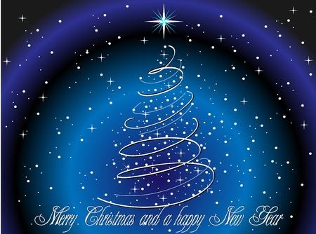 Kerstboom kaart Stockfoto - 11295393