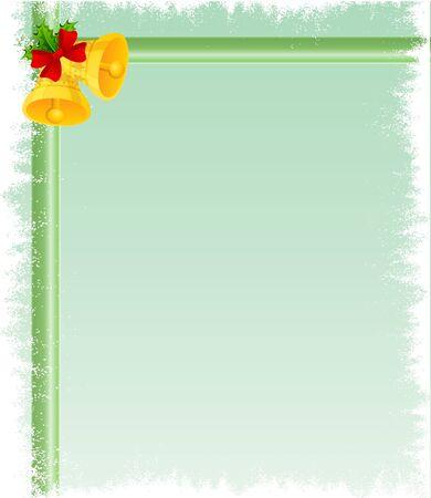 Christmas bell card Stock Vector - 11295399