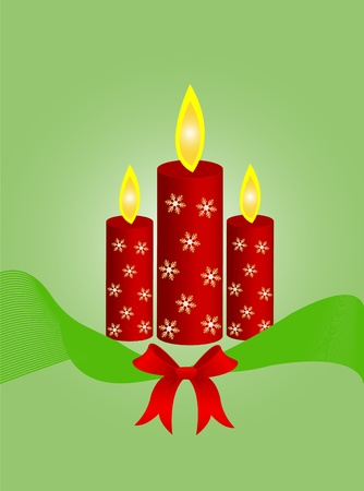 Candle red christmas  Vector