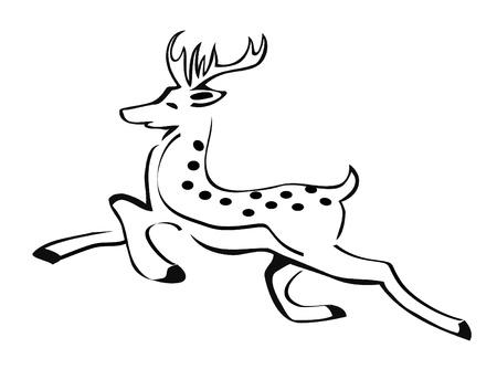 Deer christmas silhouette