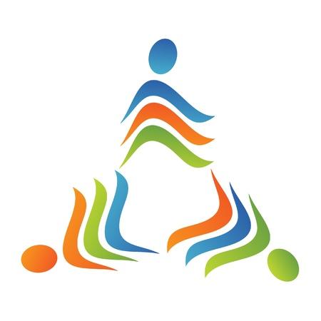 El trabajo en equipo logotipo