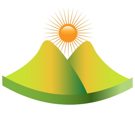 Green mountain logo Vector