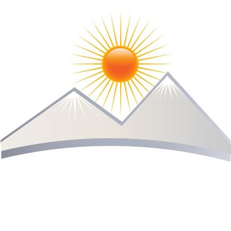 Ice montagnes logo Banque d'images - 11500496