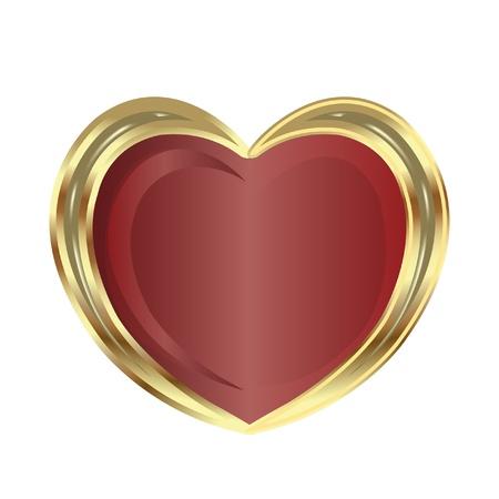 joyas de oro: Coraz�n de oro Vectores
