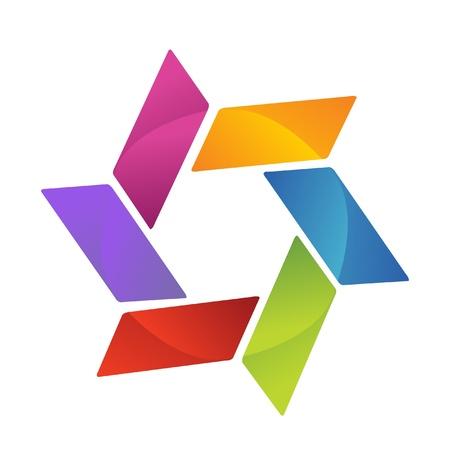 회사: 비즈니스 기호 창조적 인 디자인 로고