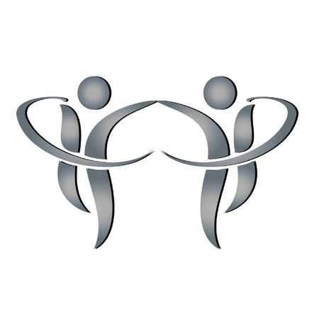 Mannen in business partners logo